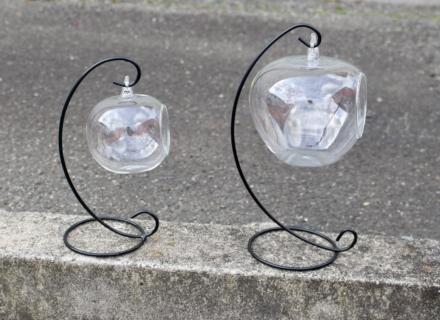 リンゴ型ガラスS